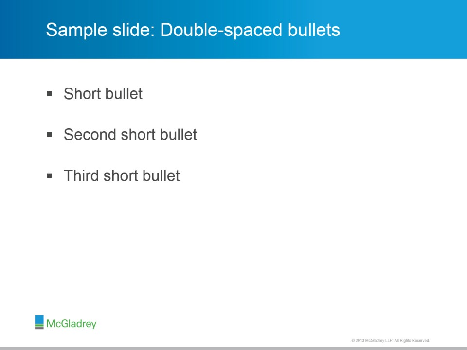 Doublespacedbullets